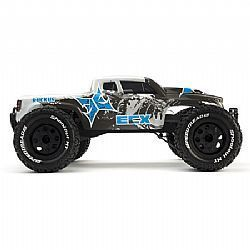 ECX 3022 - Ruckus 1/10th Monster Truck RTR w/ DX2 2.4GHZ Radio (Carvão/ Parta)